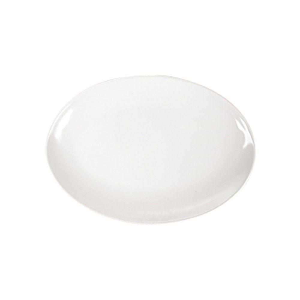 Assiette ovale mélamine ivoire 25,5x18cm - par 15