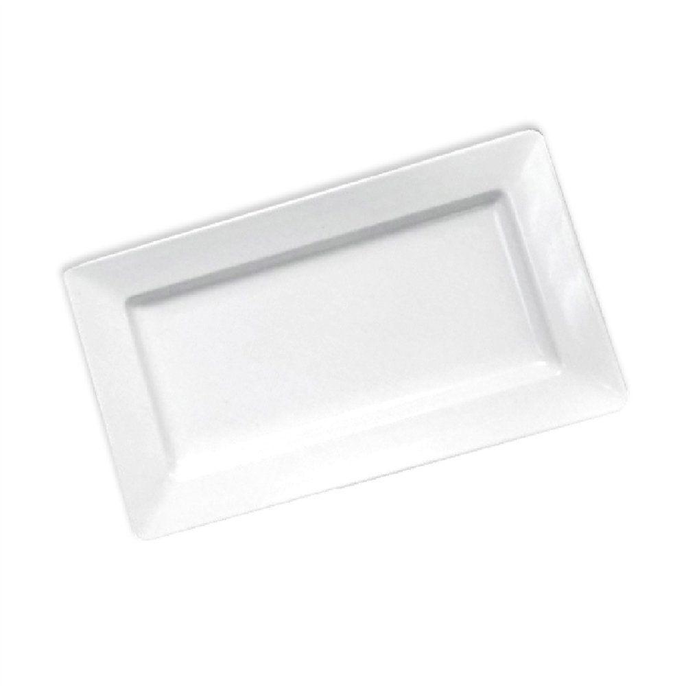 Plateau mélamine blanc 44,5x22x4,5cm - par 6