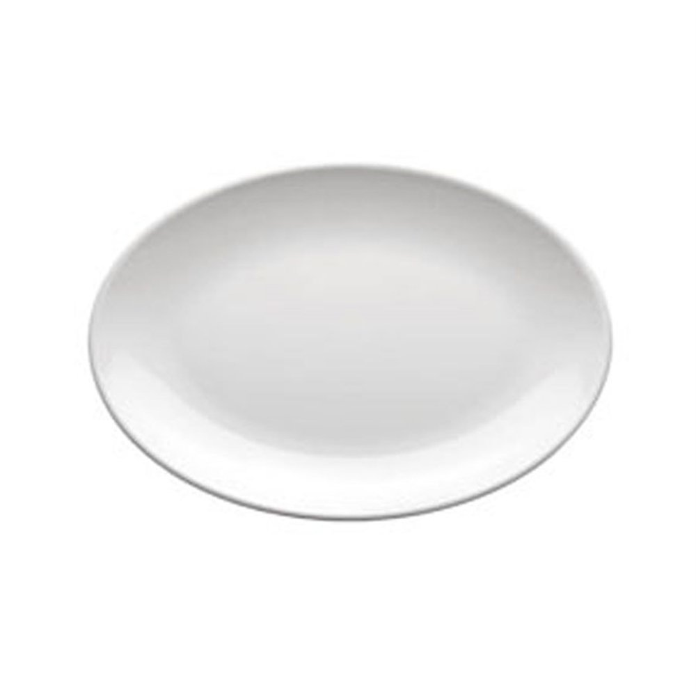 Assiette ovale mélamine blanc 23x16cm - par 72