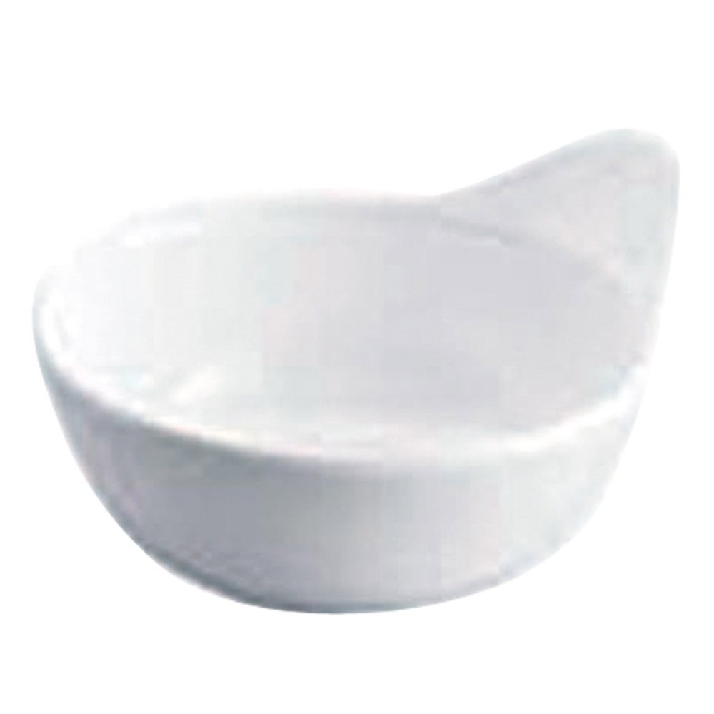Bol ovale mélamine blanc 12,4x10,7x6cm - par 192