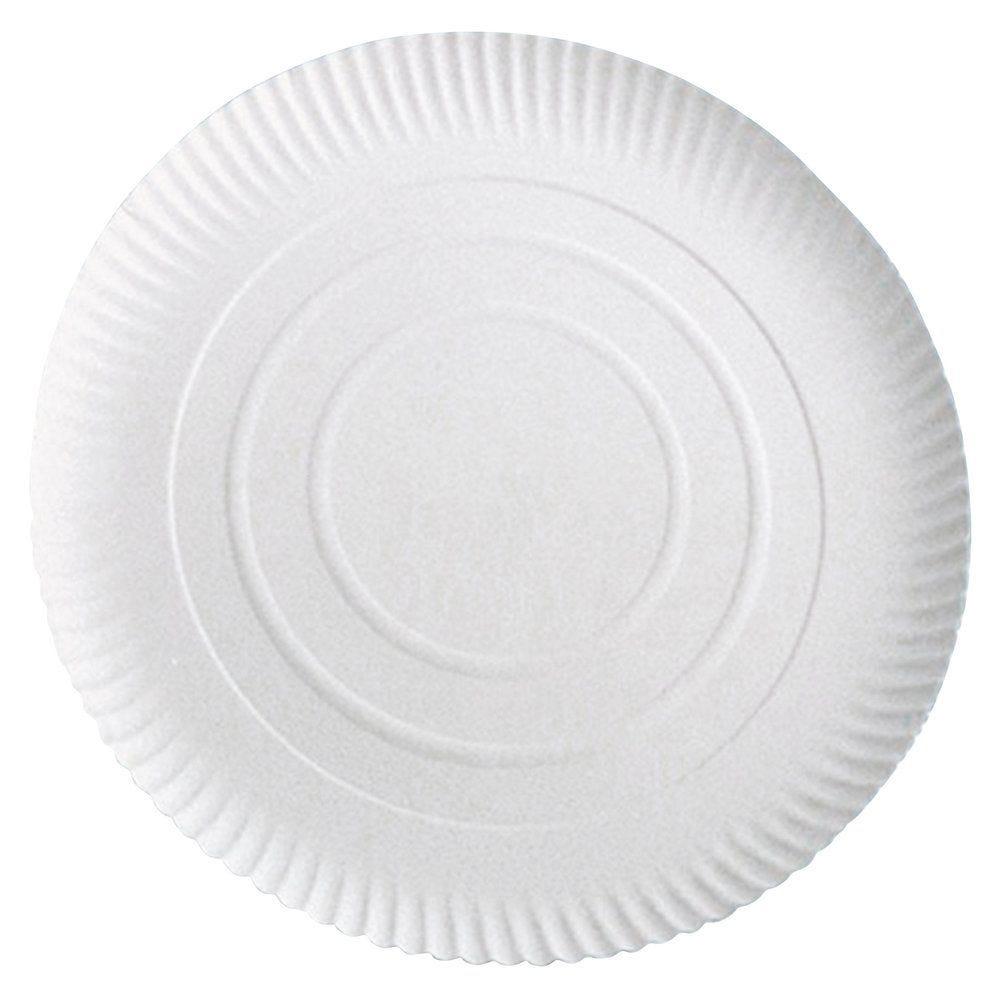 Assiette carton blanc à relief Ø23cm - par 100