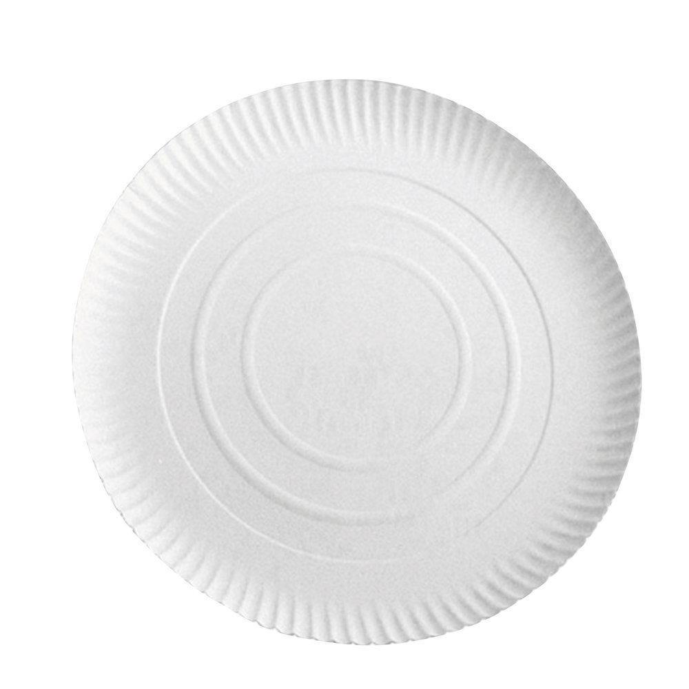 Assiette carton blanc à relief Ø28cm - par 50
