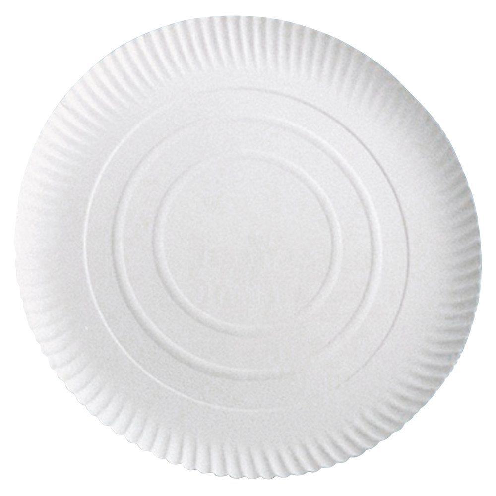 Assiette carton blanc à relief Ø34cm - par 50