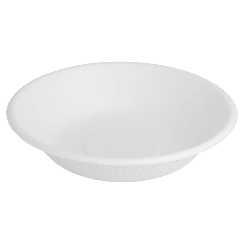 Assiette creuse bagasse blanc 460ml Ø16x3,6cm - par 1000