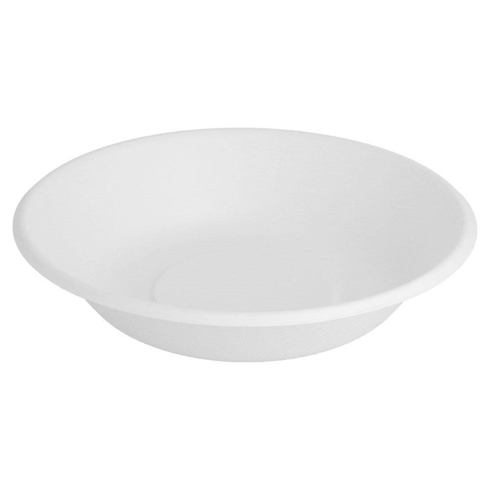 Assiette creuse bagasse blanche 680ml Ø19x4cm - par 1000