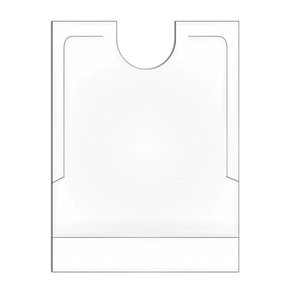 Bavoir adulte avec poche PEHD blanc 40x51+7cm - par 500