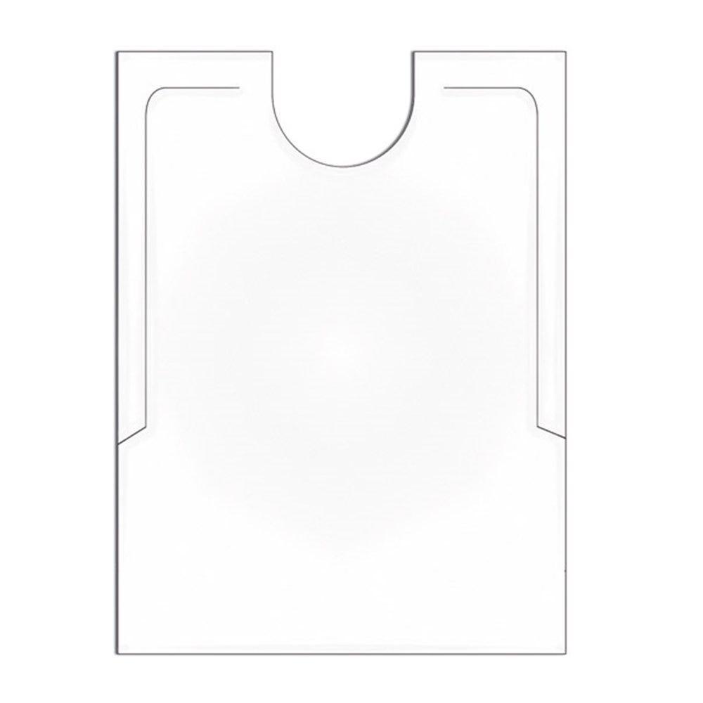 Bavoir adulte PEHD blanc 38,3x48cm - par 500