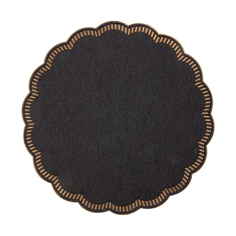Dessous de verre ouate noire 9 plis Ø9cm - par 3000