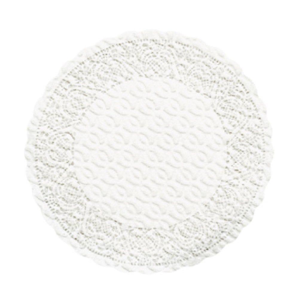 Dessous de verre intissé gaufré blanc Ø9cm - par 3000