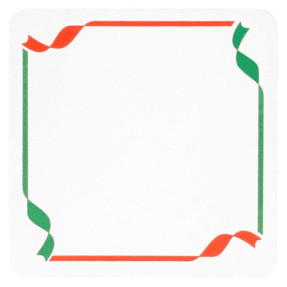 Dessous de verre carton blanc motif Italie 8,5x8,5cm - par 6000
