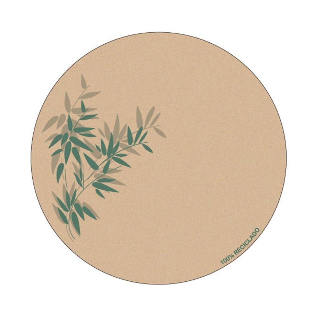 Dessous de verre carton blanc Feel Green Ø9cm - par 6000