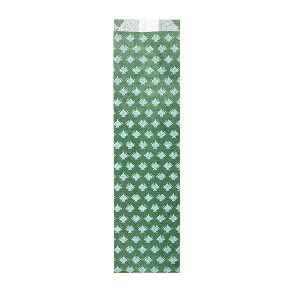 Etui pour couverts papier vert Park Avenue 7+4x26cm par 500