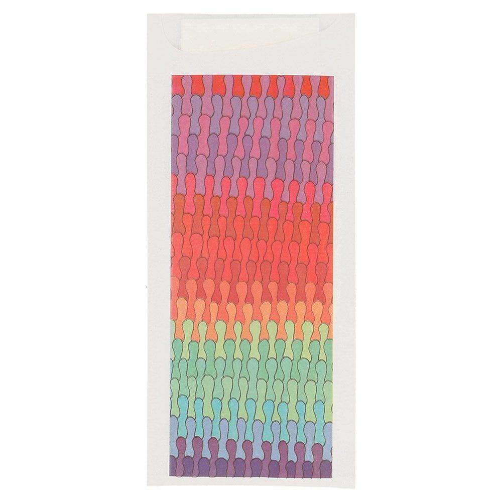 Etui pour couverts papier Colorama + serviette blanche intissée 8,5x19,5cm x250