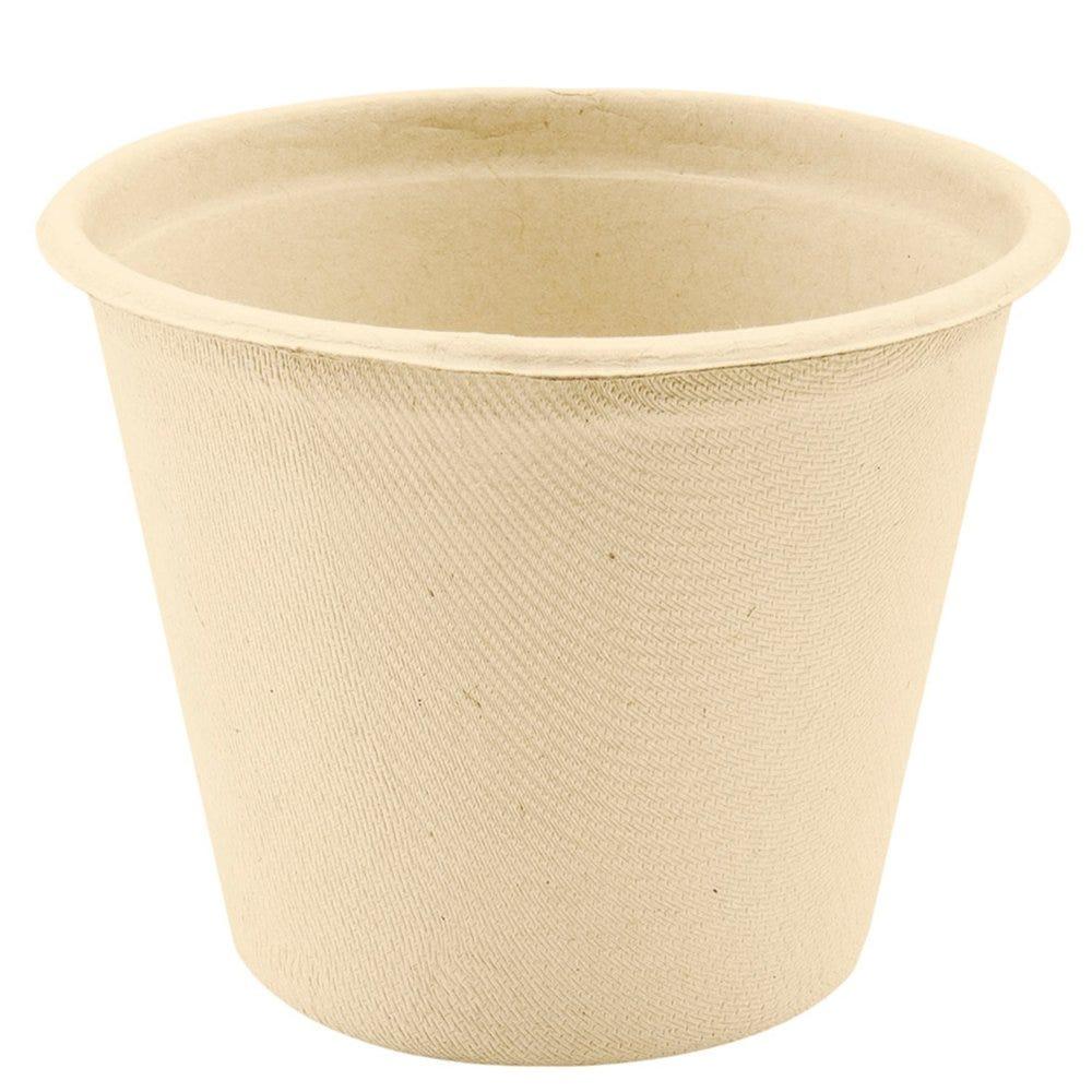 Pot à soupe en bagasse naturelle 425cc Ø10,5x8,3cm - par 600