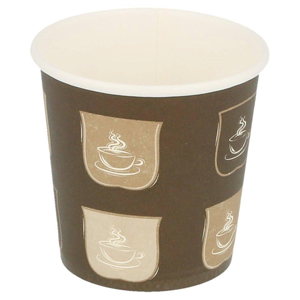 Gobelet boissons chaudes imprimé 120 ml Ø6,2/4,5 x H 6 cm - par 50
