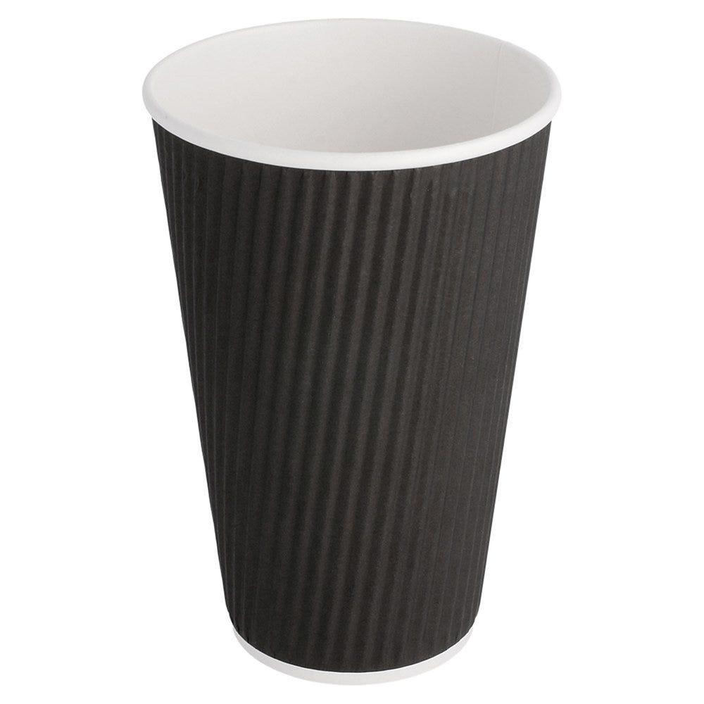 Gobelet boissons chaudes double paroi carton ondulé 48cl Black Edition - par 500