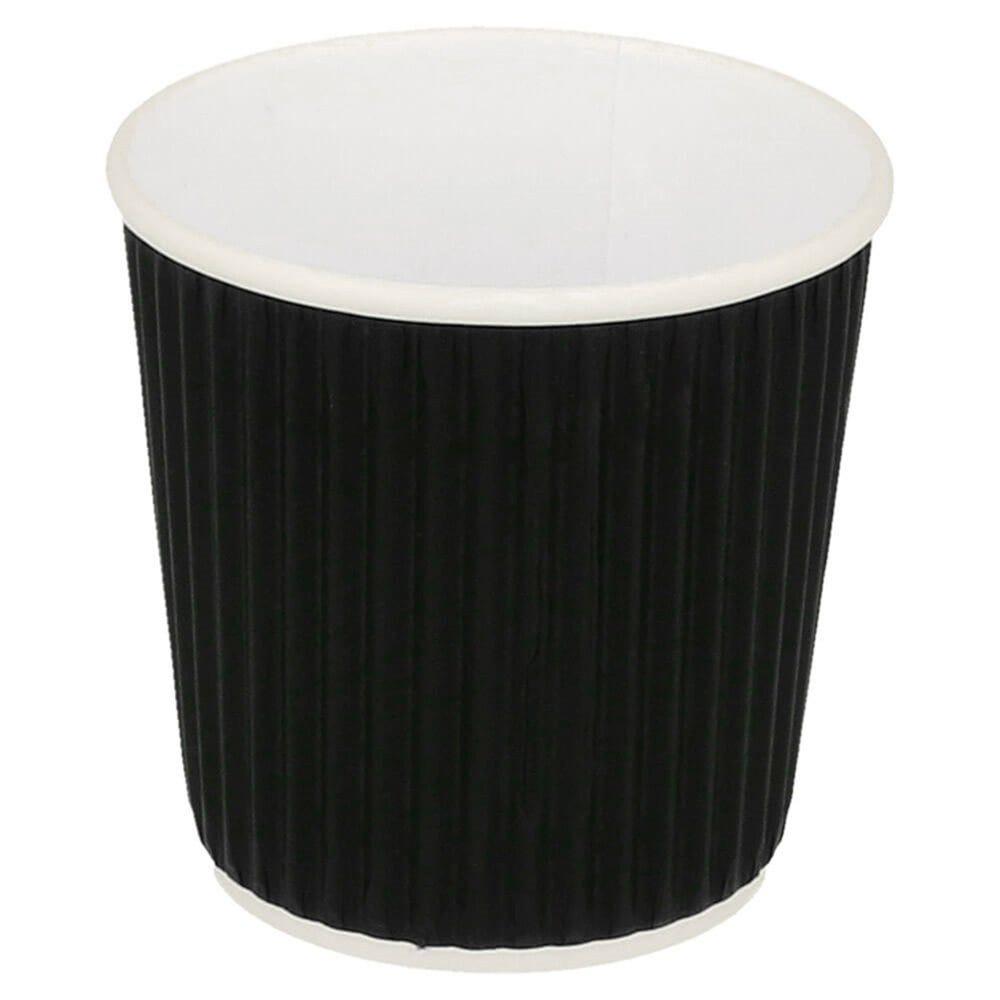 Gobelet boissons chaudes double paroi carton ondulé 12cl Black Edition par 1000