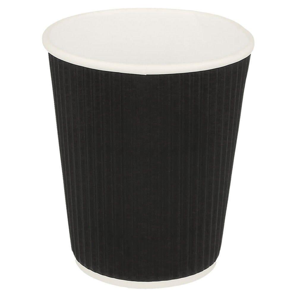 Gobelet boissons chaudes double paroi carton ondulé 24cl Black Edition par 1000