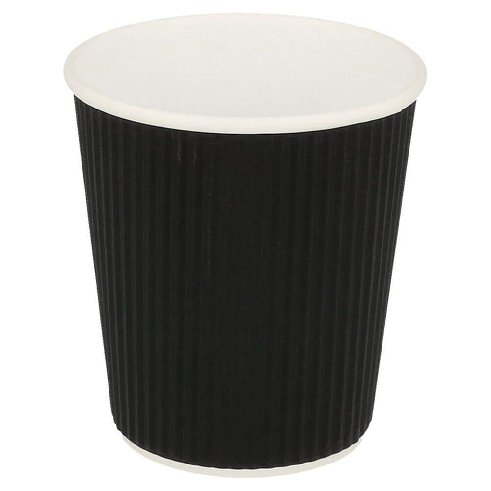 Gobelet boissons chaudes double paroi carton ondulé 18cl Black Edition par 1000