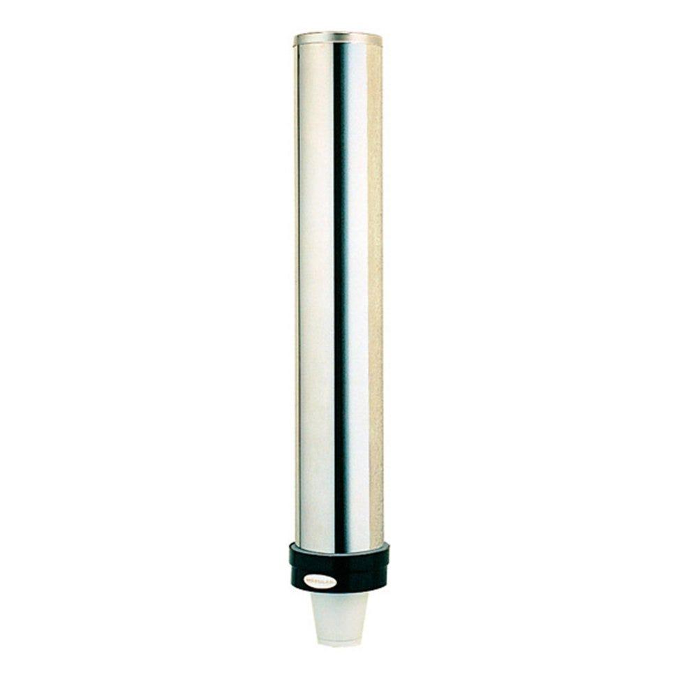 Tube distributeur de gobelets 10-74cl inox 11x61,5cm - par 1