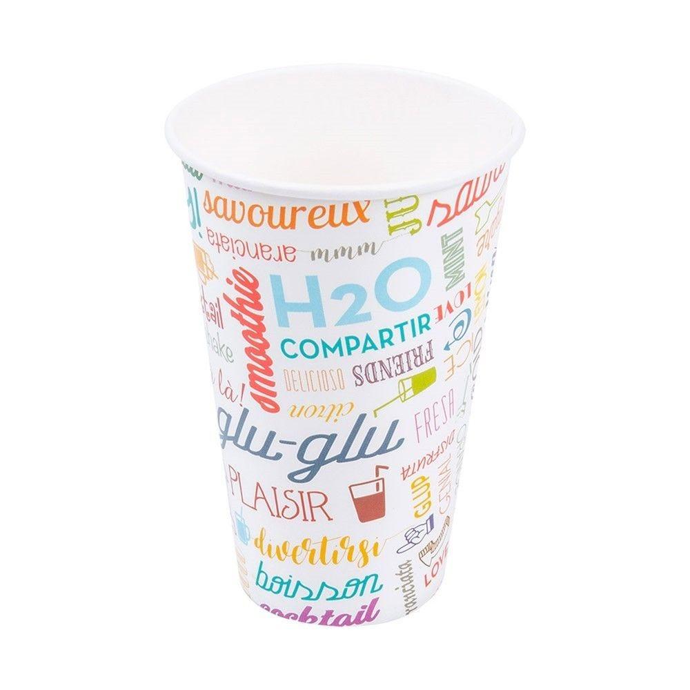 Gobelet boissons froides en carton Parole 36cl - par 2000