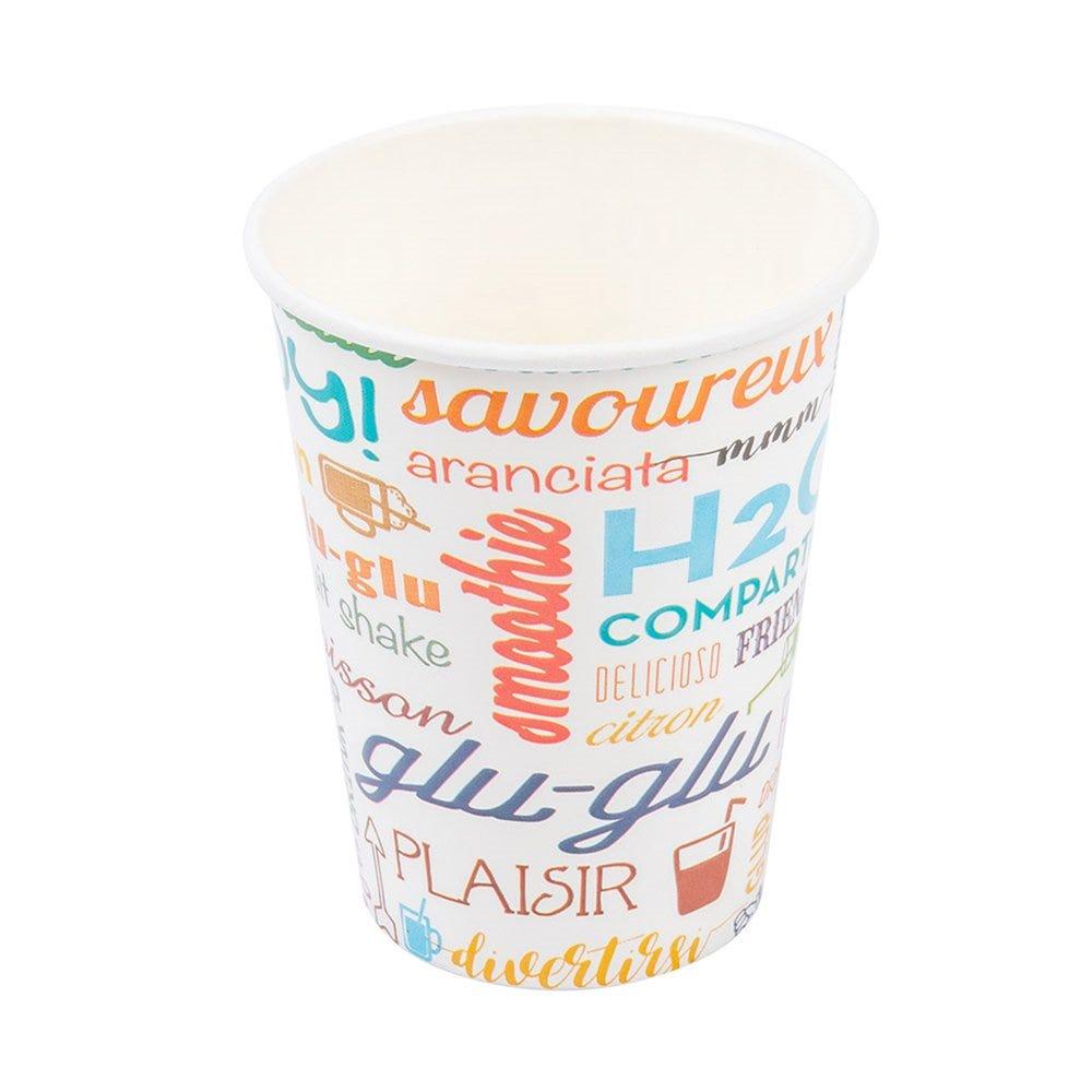 Gobelet boissons froides Parole en carton 27cl Ø7,8 x H 9,5cm - par 100