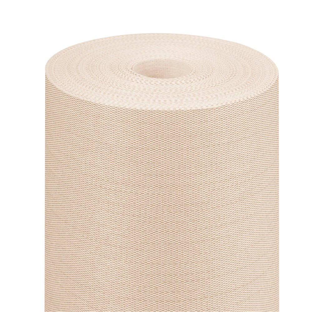 Nappe en rouleau intissé effet tissu crème 1,20x25m - par 1