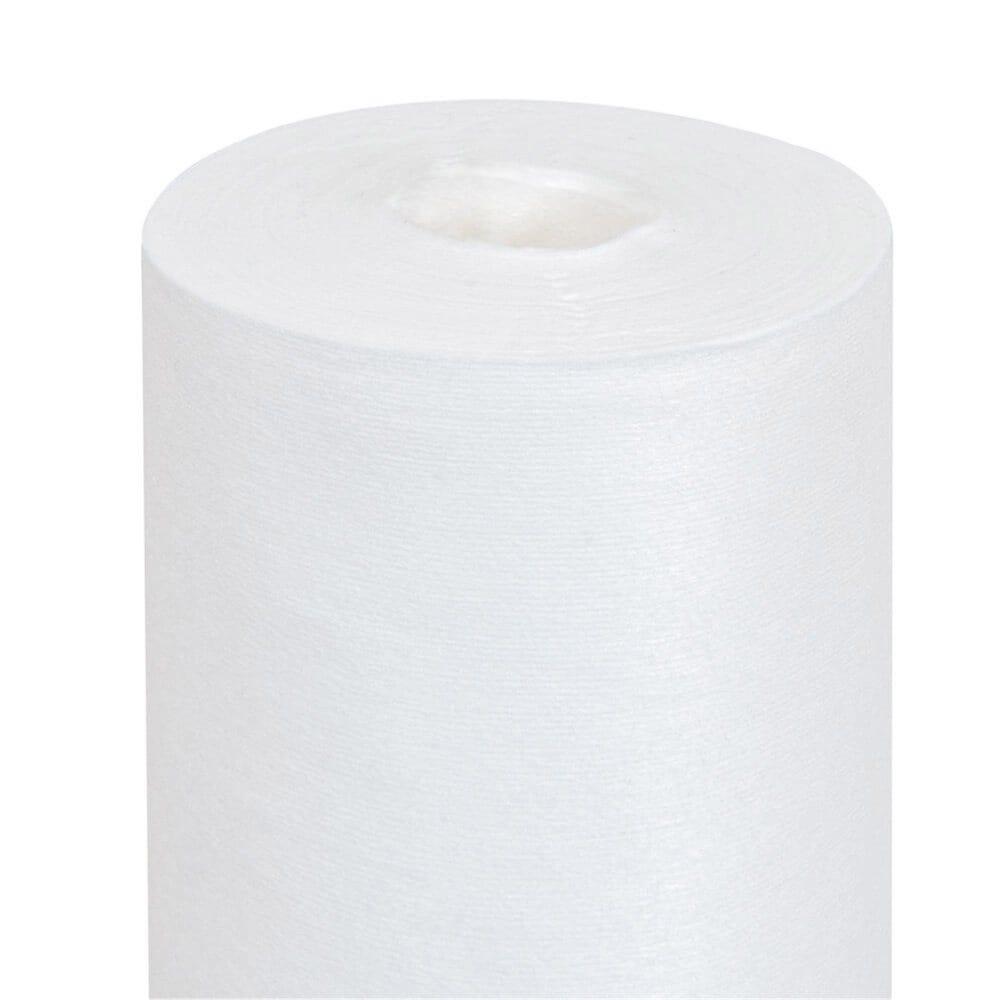 Nappe en rouleau intissé effet tissu blanc 1,20x25m - par 1
