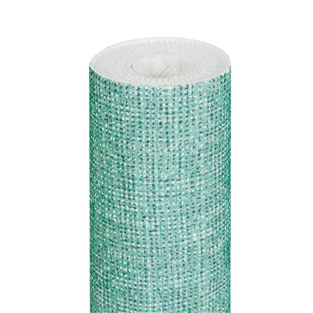 Nappe en rouleau intissé effet tissu vert d'eau 1,20x8m - par 9