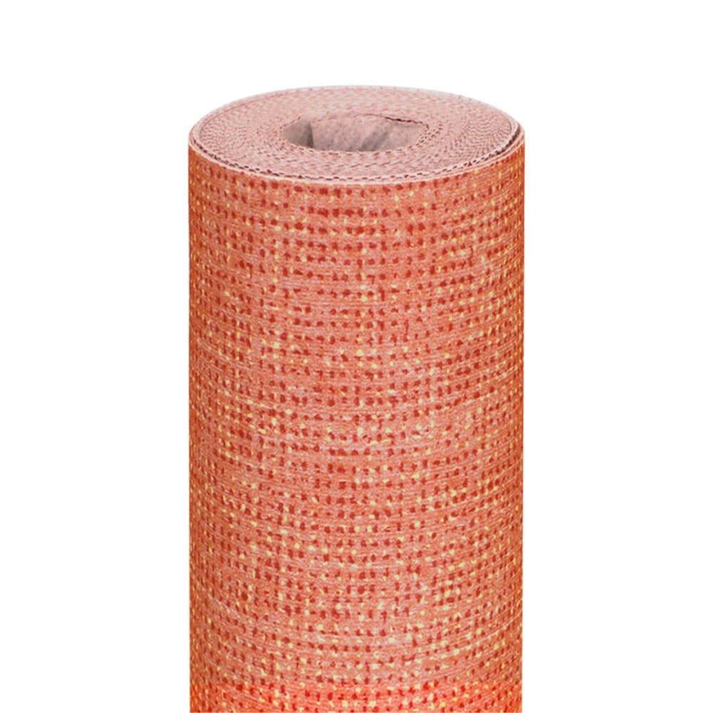 Nappe en rouleau intissé effet tissu mandarine 1,20x8m - par 9