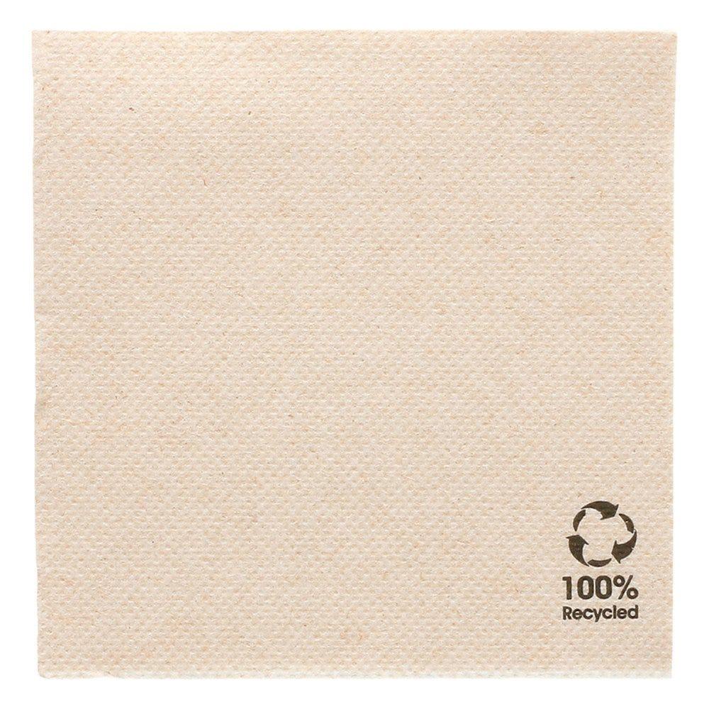 Serviette en papier gaufré recyclé naturel 2 plis 20 x 20cm - par 2400