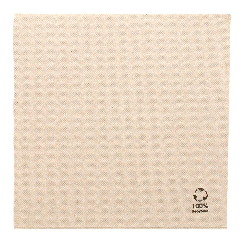 Serviette en papier gaufré recyclé naturel 2 plis 39 x 39cm - par 1200