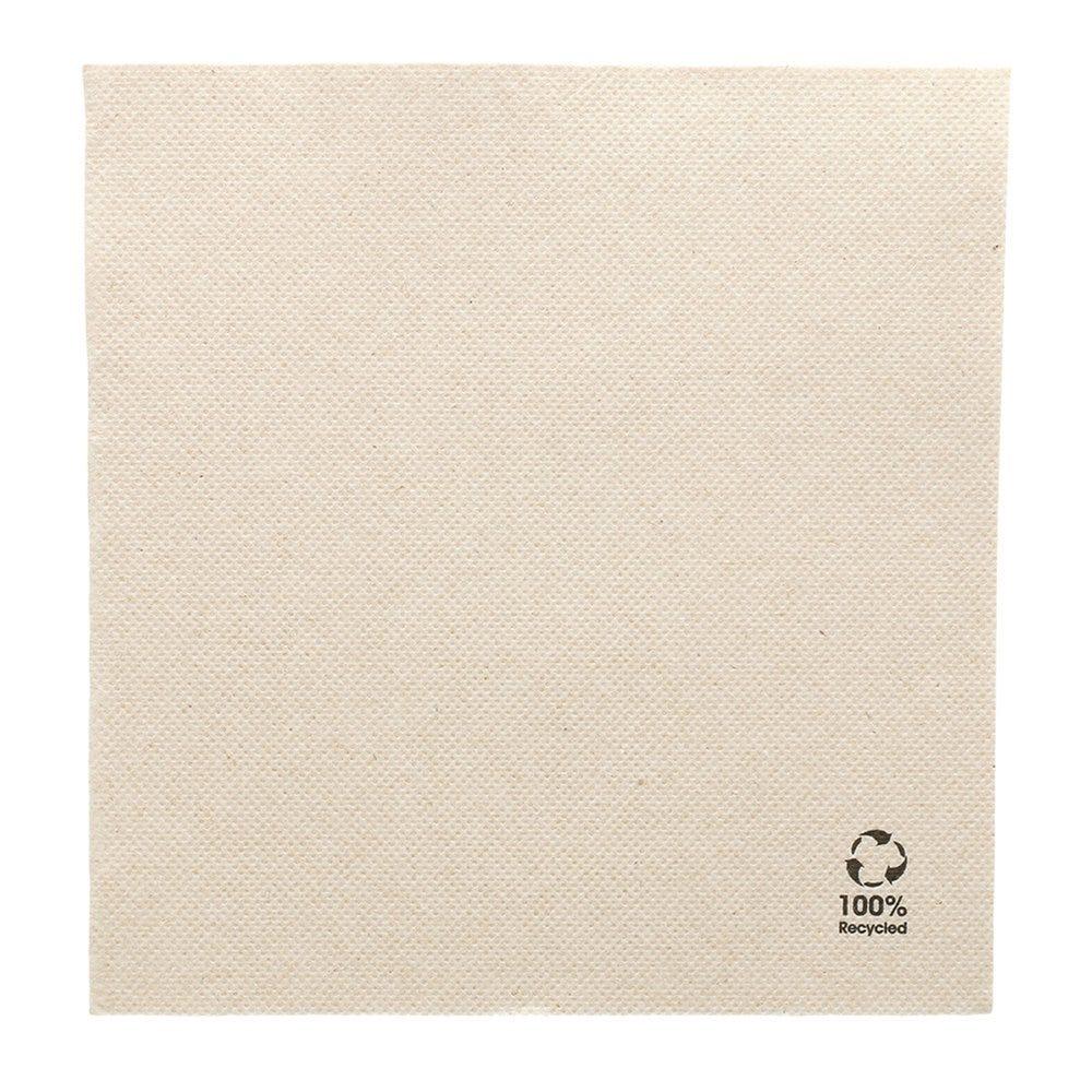 Serviette en papier gaufré recyclé naturel 2 plis 33 x 33cm - par 1200