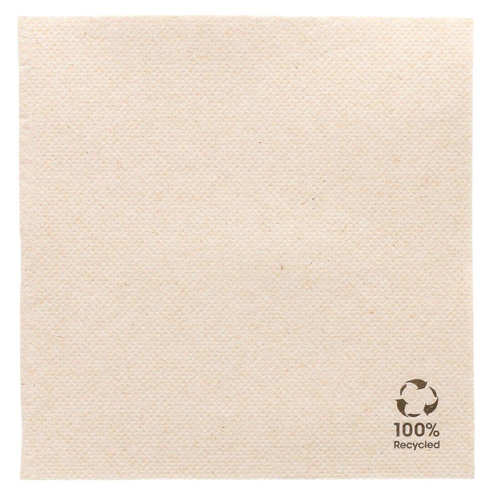 Serviette en papier gaufré recyclé naturel 2 plis 25 x 25cm - par 3000