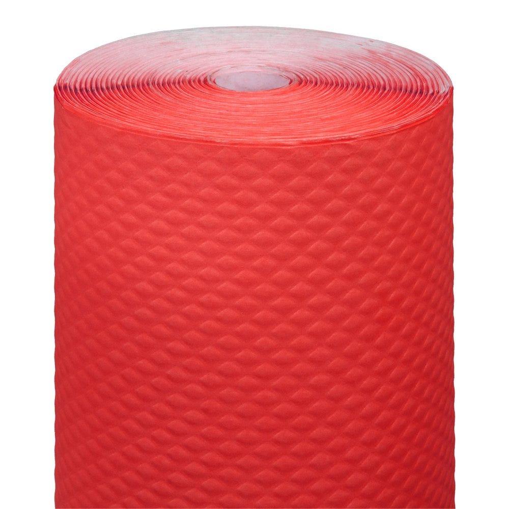 Nappe en rouleau cellulose extra damassé rouge 1,20x100m - par 4