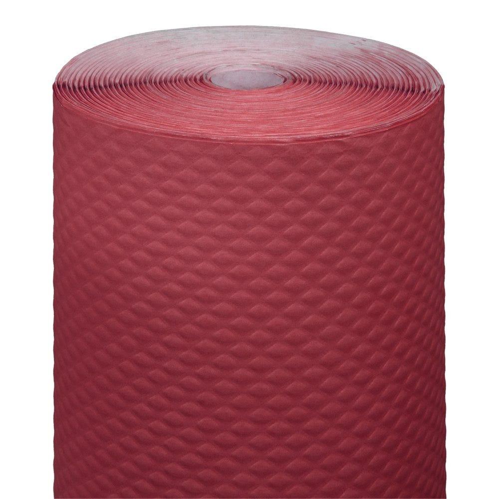 Nappe en rouleau cellulose extra damassé bordeaux 1,20x100m - par 4