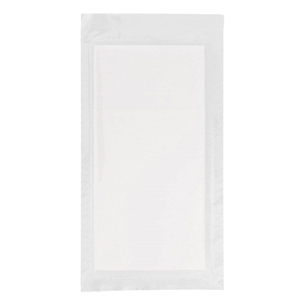 Serviette-étui pour couverts intissé blanc sous sachet 40x39cm - par 300