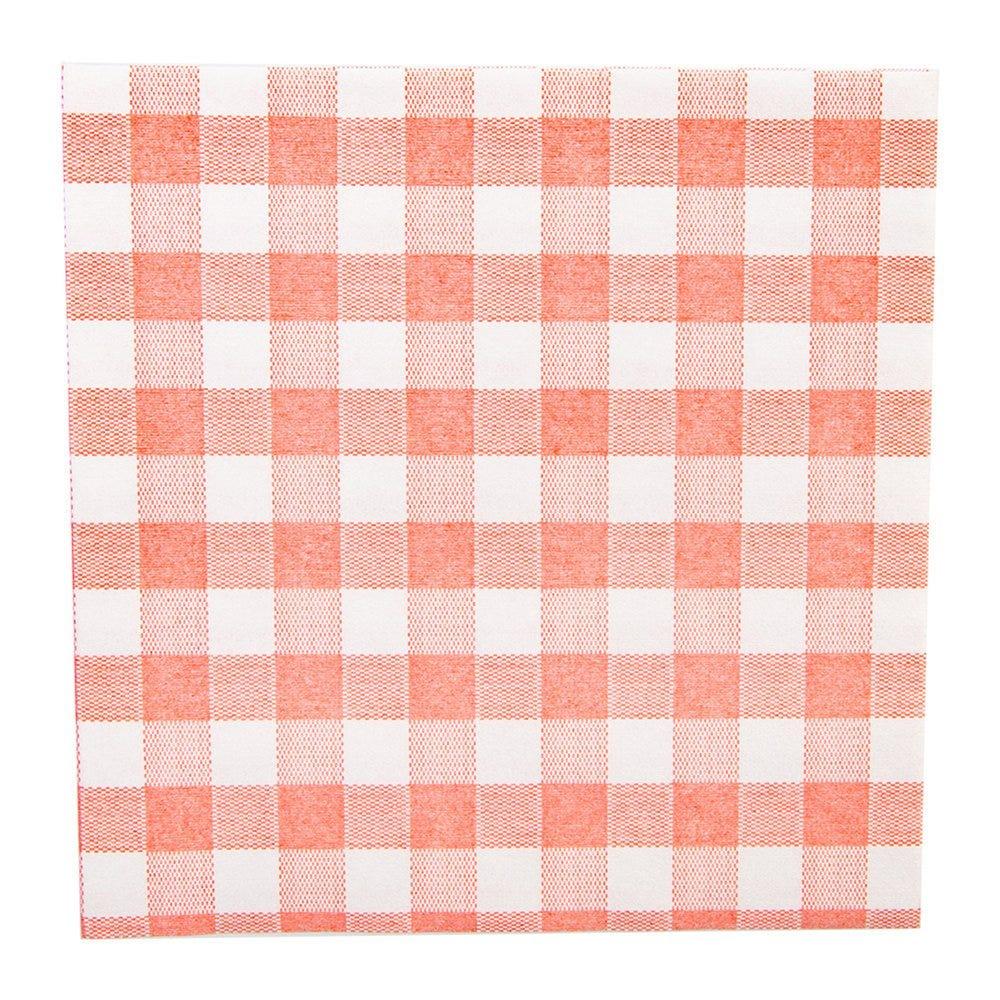 Serviette intissé Vichy rouge effet tissu 40x40cm - par 600