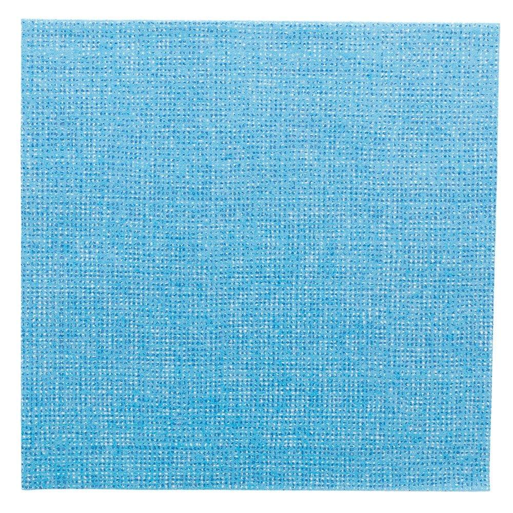 Serviette intissé turquoise effet tissu 40x40cm - par 600
