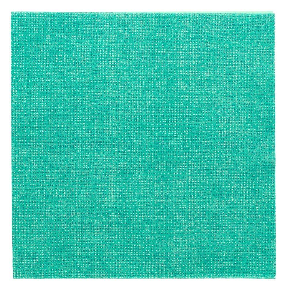 Serviette intissé vert d'eau effet tissu 40x40cm - par 600