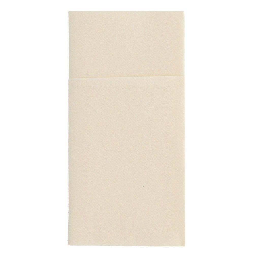 Serviette-étui pour couverts intissé ivoire 40x40cm - par 700