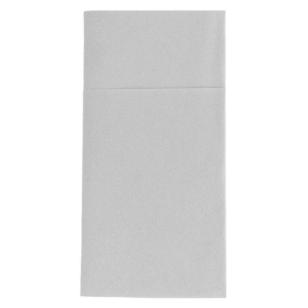 Serviette-étui pour couverts intissé gris 40x40cm - par 700