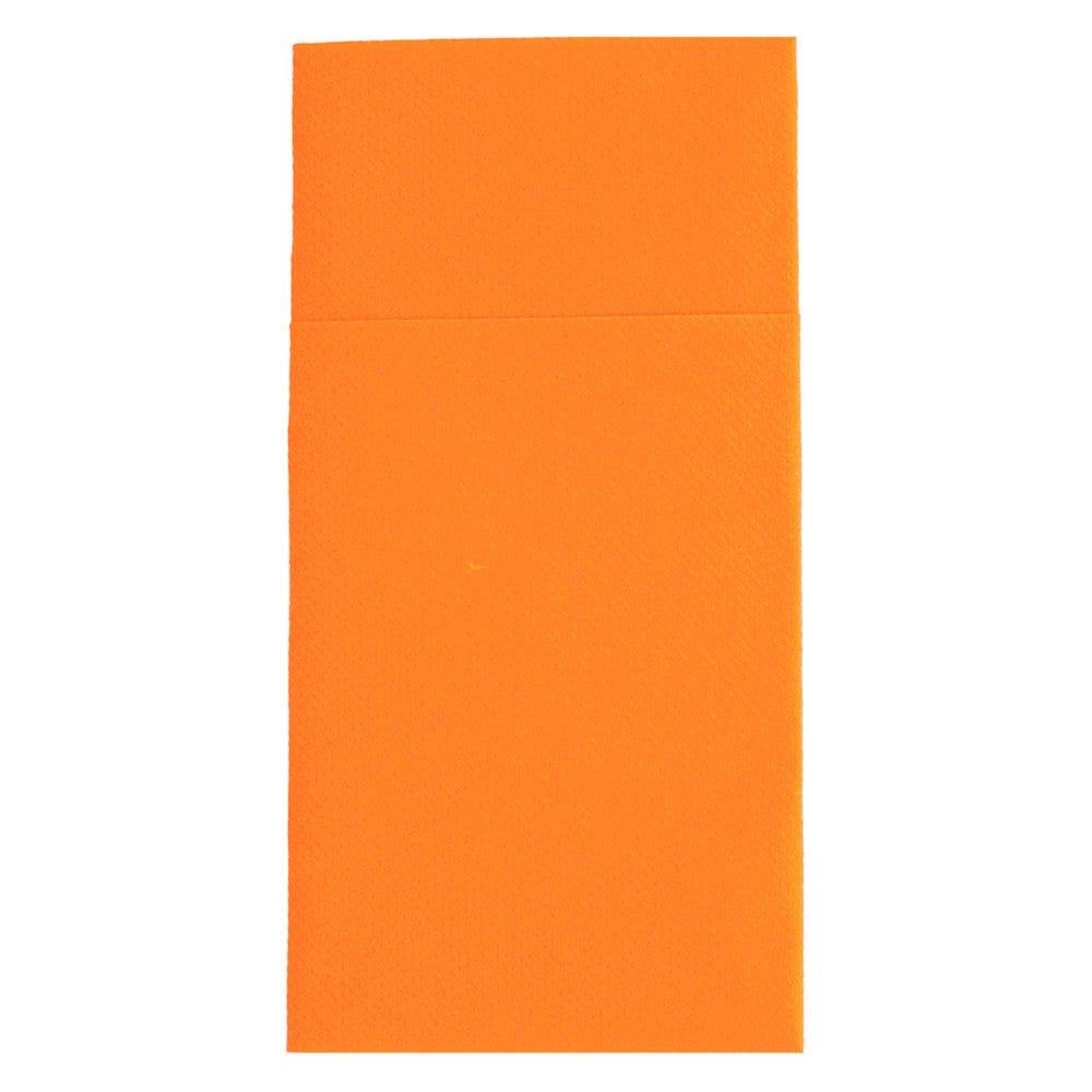 Serviette-étui pour couverts intissé mandarine 40x40cm - par 700