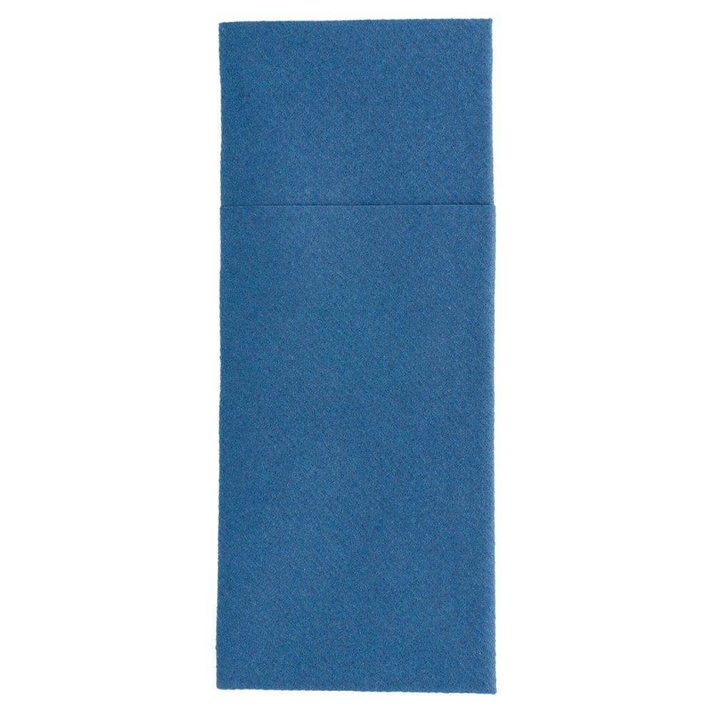 Serviette-étui pour couverts intissé bleu marine 40x40cm - par 700