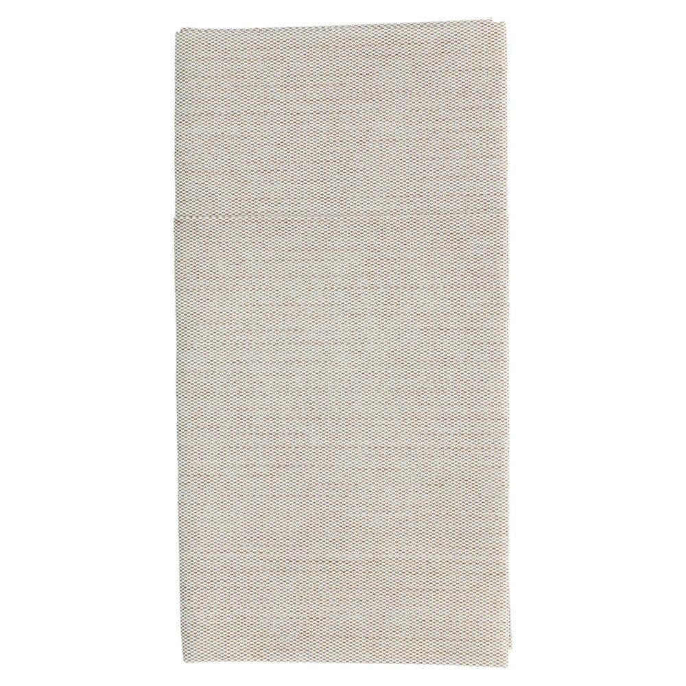 Serviette-étui pour couverts effet tissu chocolat 40x40cm - par 700