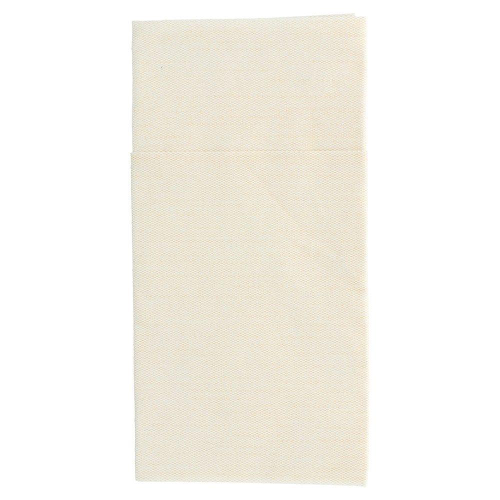 Serviette-étui pour couverts effet tissu crème 40x40cm - par 700