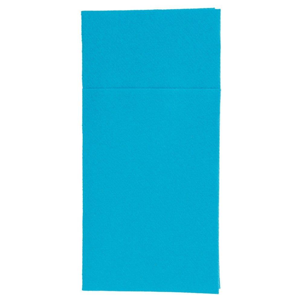Serviette-étui pour couverts intissé turquoise 40x40cm - par 700