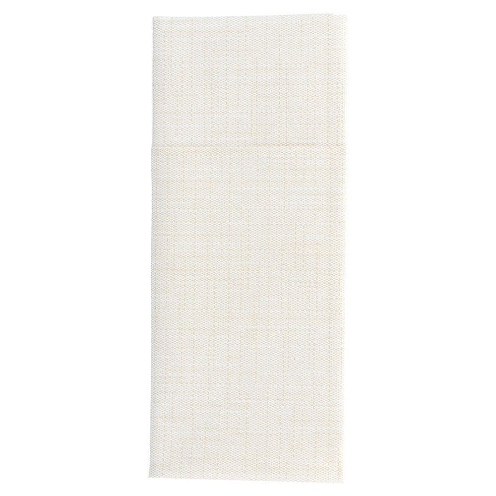 Serviette-étui pour couverts intissé effet matière ivoire 33x40cm - par 700