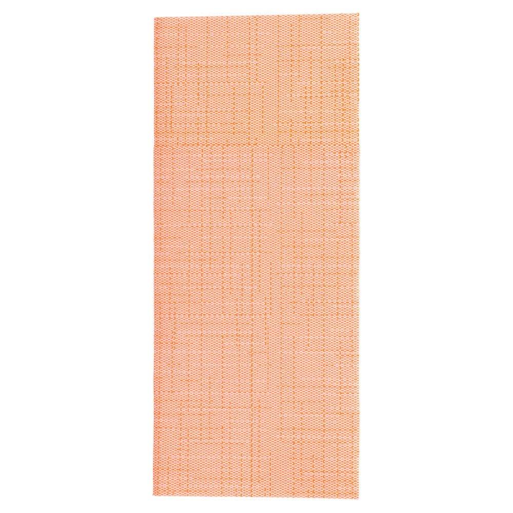 Serviette-étui pour couverts intissé effet matière mandarine 33x40cm - par 700