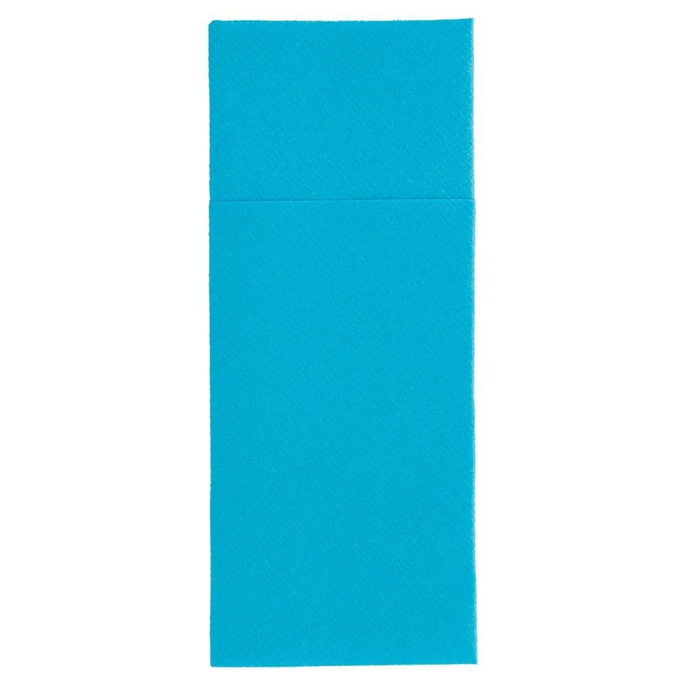 Serviette-étui pour couverts intissé turquoise 33x40cm - par 700